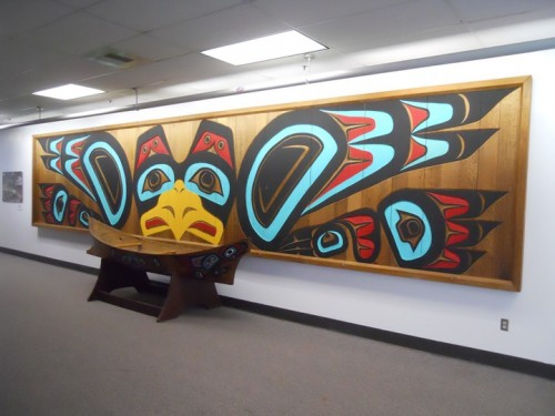 Mural in Native Village of Yakutat High School